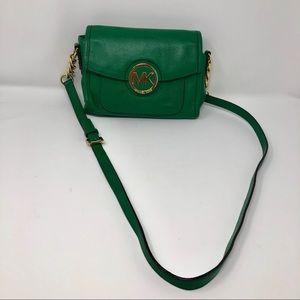Michael Kors, Green Crossbody Hobo Bag